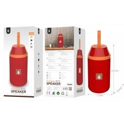 F6483 | Parlante Bluetooth | 2x3W | Rojo | microSD/FM/USB/Aux