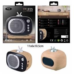 FT633 | Parlante Bluetooth | 5W | microSD/FM/USB/Aux | TV Madera