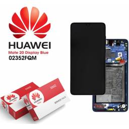 Display Huawei Mate 20 Comp c/M + Batería Azul | Original (02352FQM)