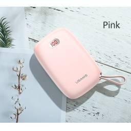CD78 | Power Bank PB17 | 2 USB | 10.000mAh | Rosado | LCD