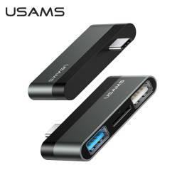 SJ463   mini Hub Tipo C  2 USB + microSD  Gris