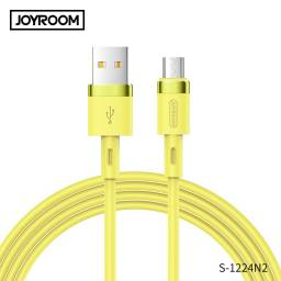 1224N2 | Cable de Datos | Lightning | Amarillo | 1,2M | Silicona | JOYROOM | S-1224N2