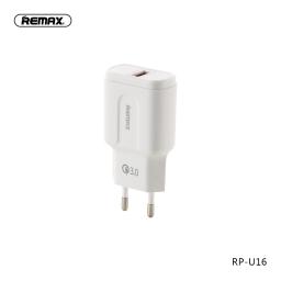 RP-U16 | Cargador Standard | 1 USB | Blanco | 3A | Remax
