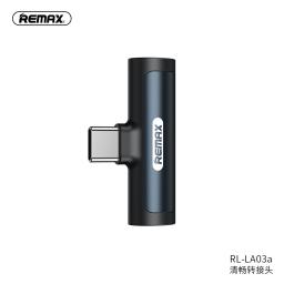 RL-LA03a | Adaptador Tipo C a Tipo C+3,5mm | Negro | Remax