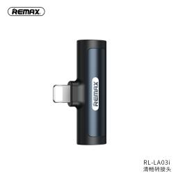 RL-LA03i | Adaptador Lightning a Lightning+3,5mm | Negro | Remax