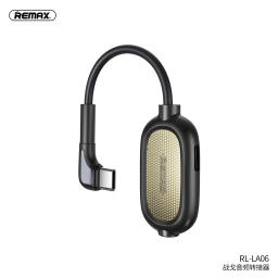 RL-LA06 | Adaptador Tipo C a Tipo C+3,5mm | Negro | Remax