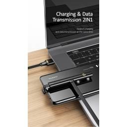SJ381 | Cable de Datos U39 | Tipo C | 1,2M | Negro | Gable Ganer con Ventosa | USAMS