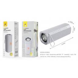 NF4064 | Parlante Bluetooth | Gris | FMUSBSDAux | 2x3W | 1.200mAh | One+ | 8435606703178