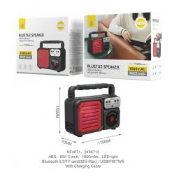 NF4071 | Parlante Bluetooth | Rojo | FMUSBSDTWS | 6W | 1.000mAh | One+ | 8435606706858