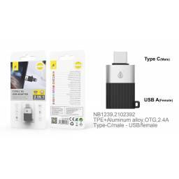 NB1239   Adaptador USB 2.0 a Tipo C   Negro   One+   8435606706063