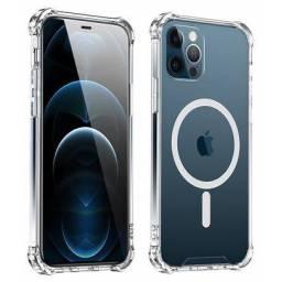 BH718   Case   Apple iPhone 12/12 Pro   Transparente   Negro   Magnético