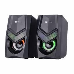 Parlantes Gamer | XZZ-SP-01 | 2x3W | RGB | USB+3,5mm | X-Lizzard
