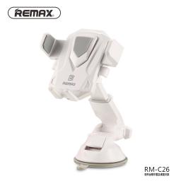 RM-C26 | Soporte Vehicular | VentosaPinza | BlancoGris | Remax