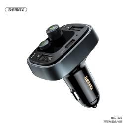 RCC-230   Cargador Auto c/Bluetooth   2 USB + Tipo C   LCD   Manos Libres   Negro   2.4A   Remax
