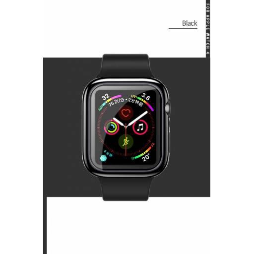 US-BH486 | TPU Cover Apple Watch 44mm | Negro