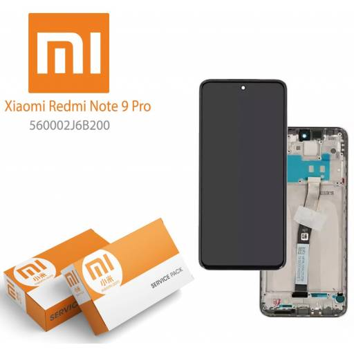 Display Xiaomi Redmi Note 9 Pro Comp c/M Blanco | Original (560002J6B200)