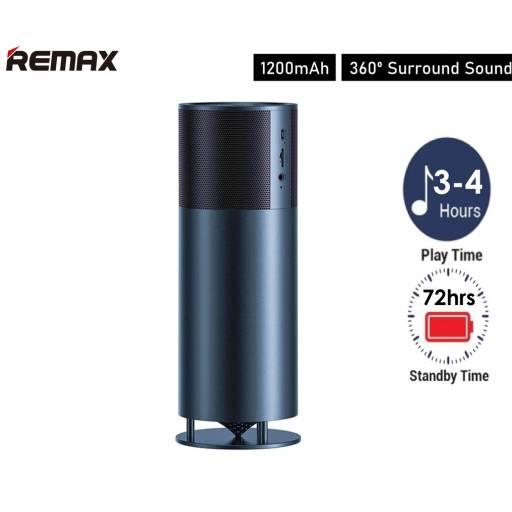 RB-M46 | Parlante Bluetooth | 2x5W | Negro | Aux/TF/FM | Famous Desktop | Remax