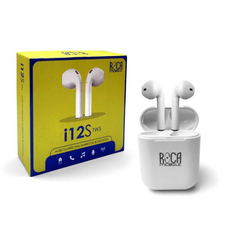 Auricular Bluetooth TWS Roca i12s Blanco (Tipo Air Pod)